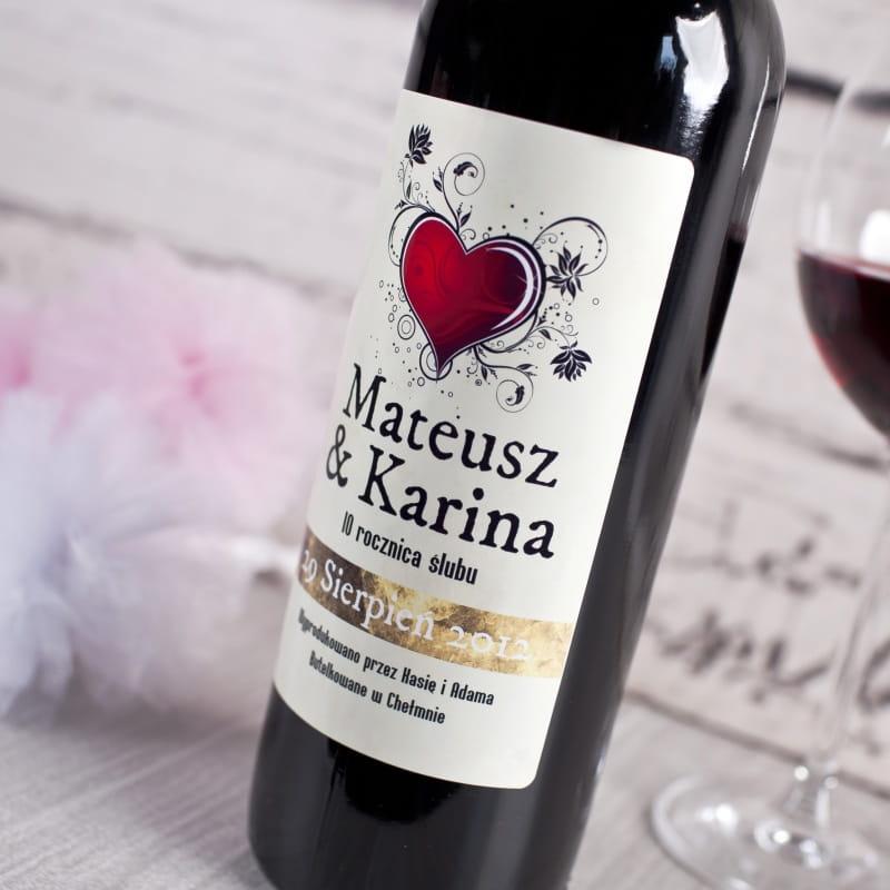Nowość Czerwone wino bezalkoholowe ROCZNICA ŚLUBU DL12