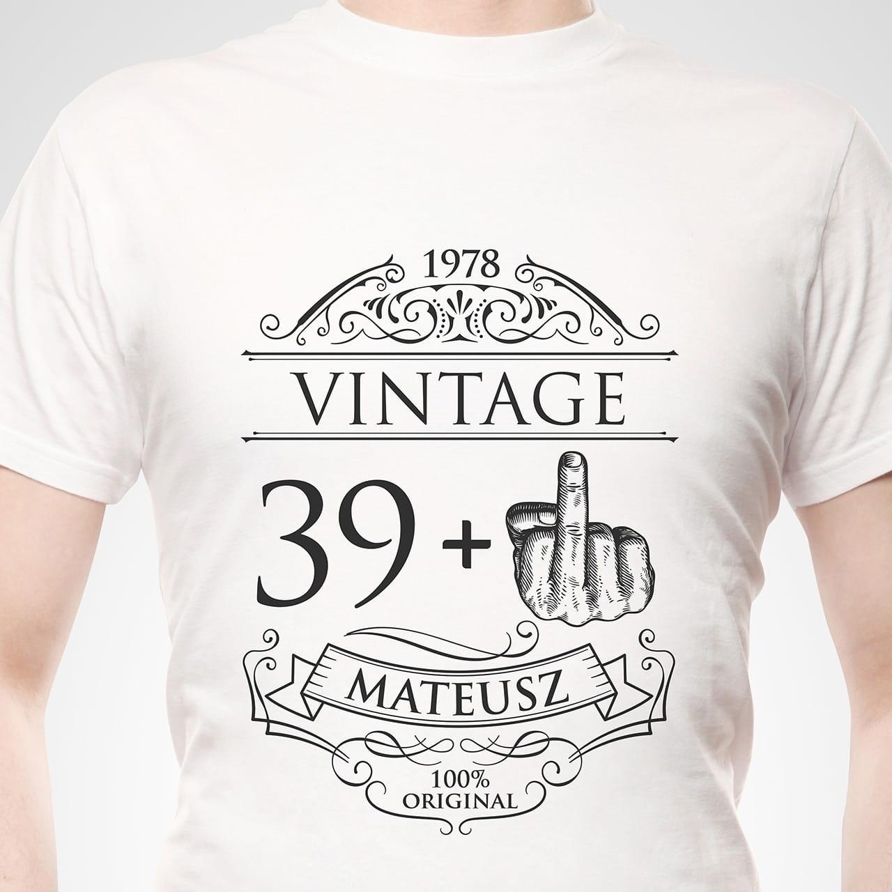 e065eda7af82cf Koszulka męska z nadrukiem PREZENT NA 40 URODZINY