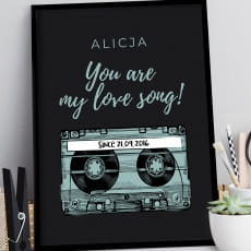 Plakat personalizowany 31x41 cm MY LOVE SONG