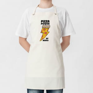 Fartuch z nadrukiem PIZZA POWER prezent dla pizzermana