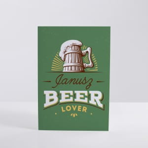 Kartka BEER LOVER