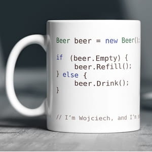 Kubek z nadrukiem BEER SOFTWARE DEVELOPER