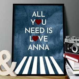 Plakat personalizowany 31x41 cm ALL YOU NEED