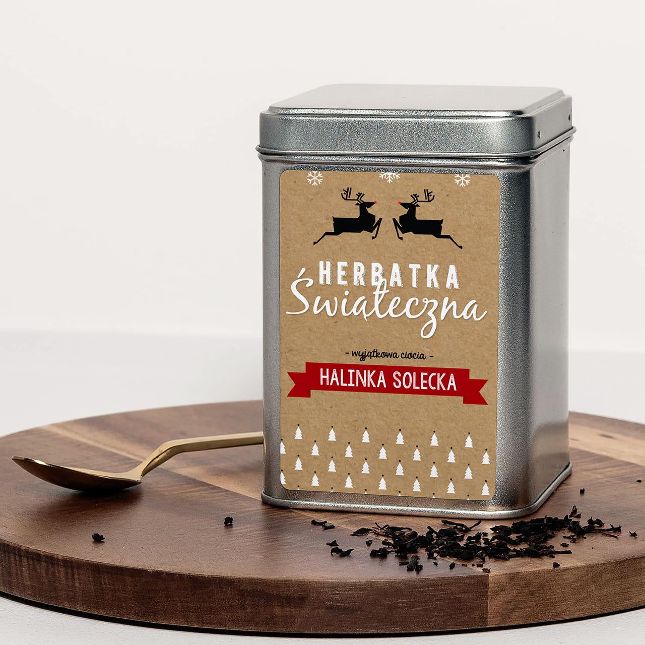 Czarna Herbata Personalizowana Prezent Dla Cioci Na Swieta