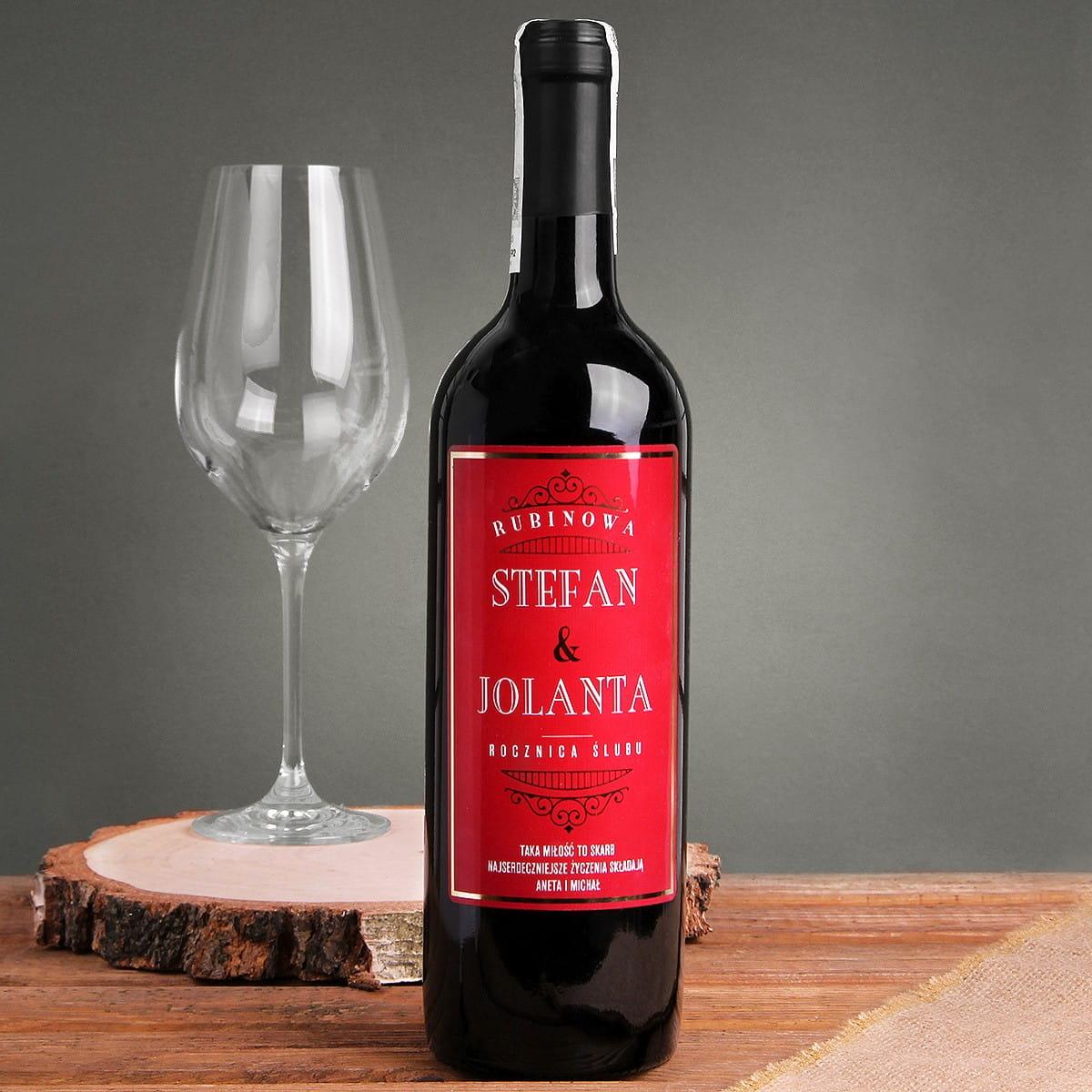Fantastyczny Czerwone wino bezalkoholowe PREZENT NA 40 ROCZNICĘ JK86
