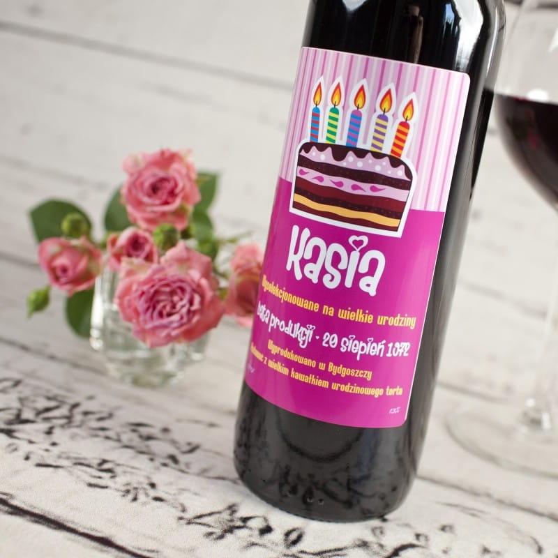 Czerwone Wino Bezalkoholowe Twoje Urodziny