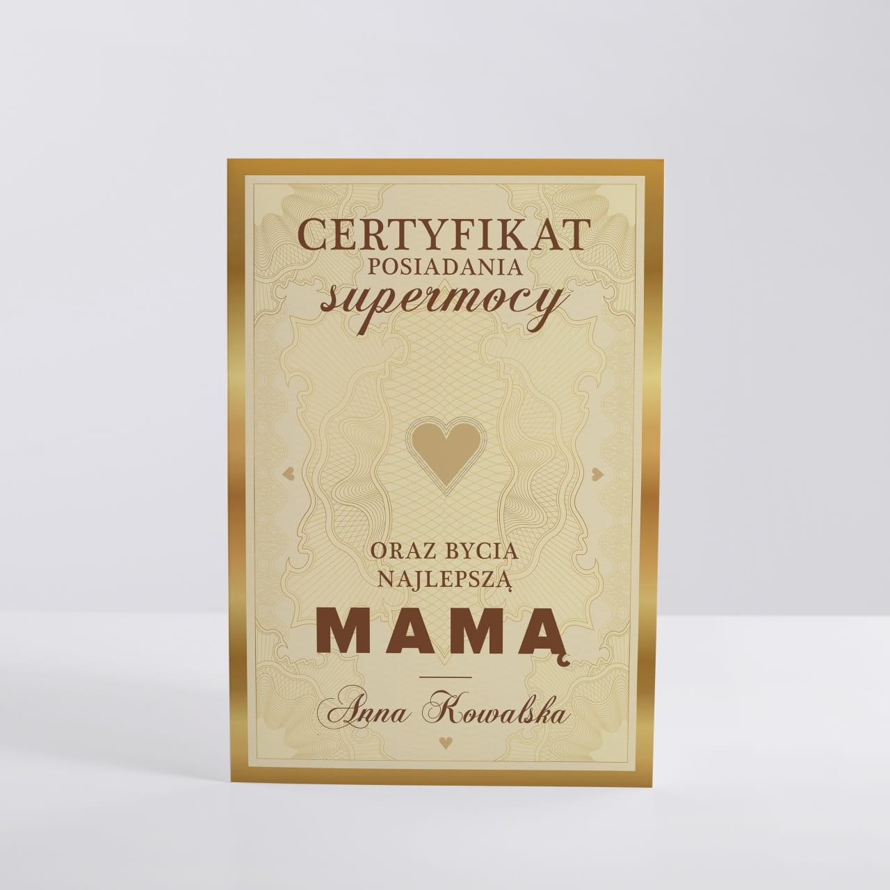 Kartka Dla Mamy Certyfikat
