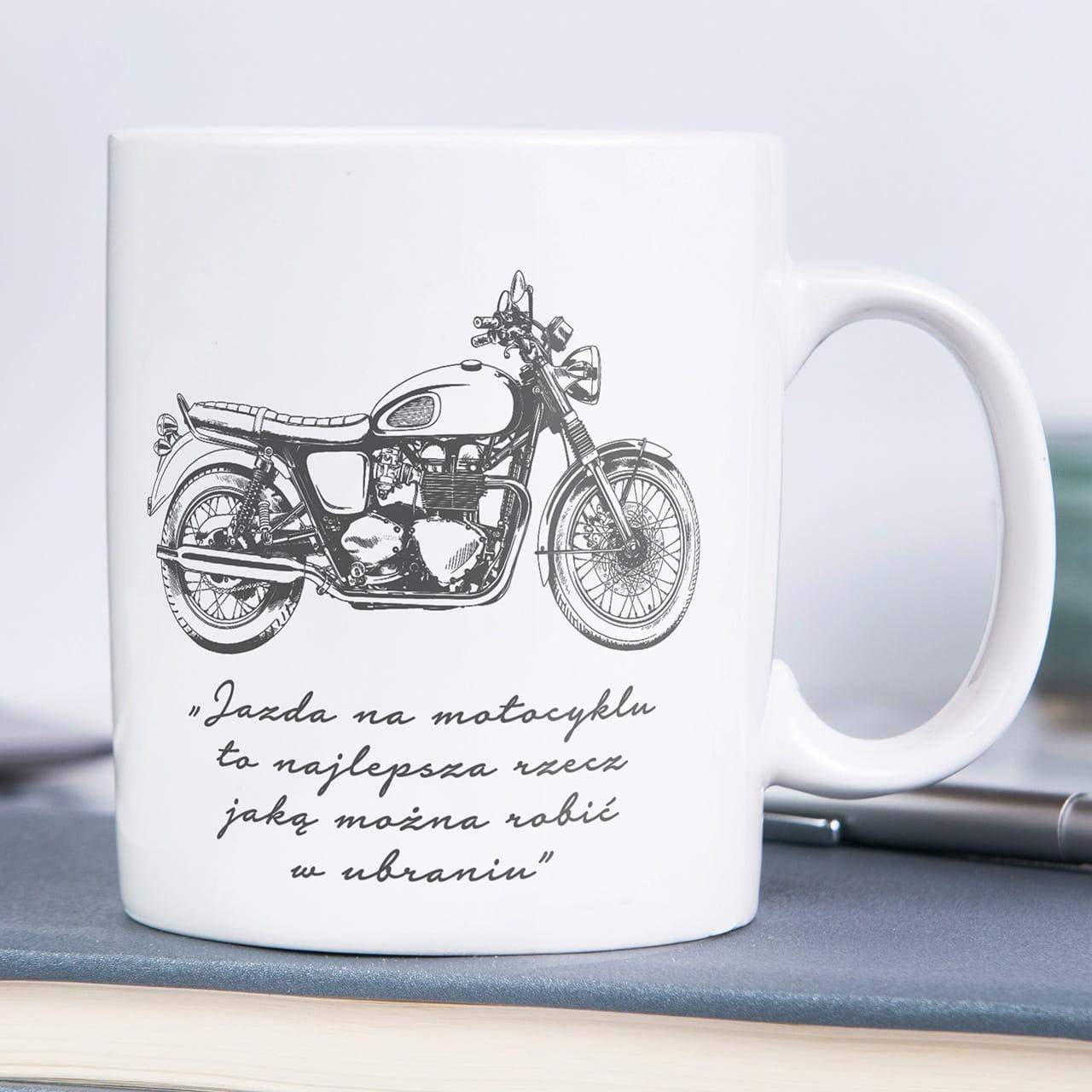 Kubek Z Nadrukiem Czlowiek Zmotoryzowany Prezent Dla Motocyklisty
