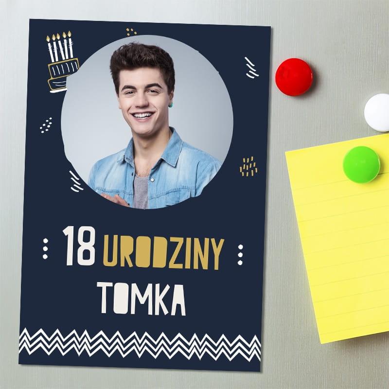 Magnes Personalizowany 18 Urodziny