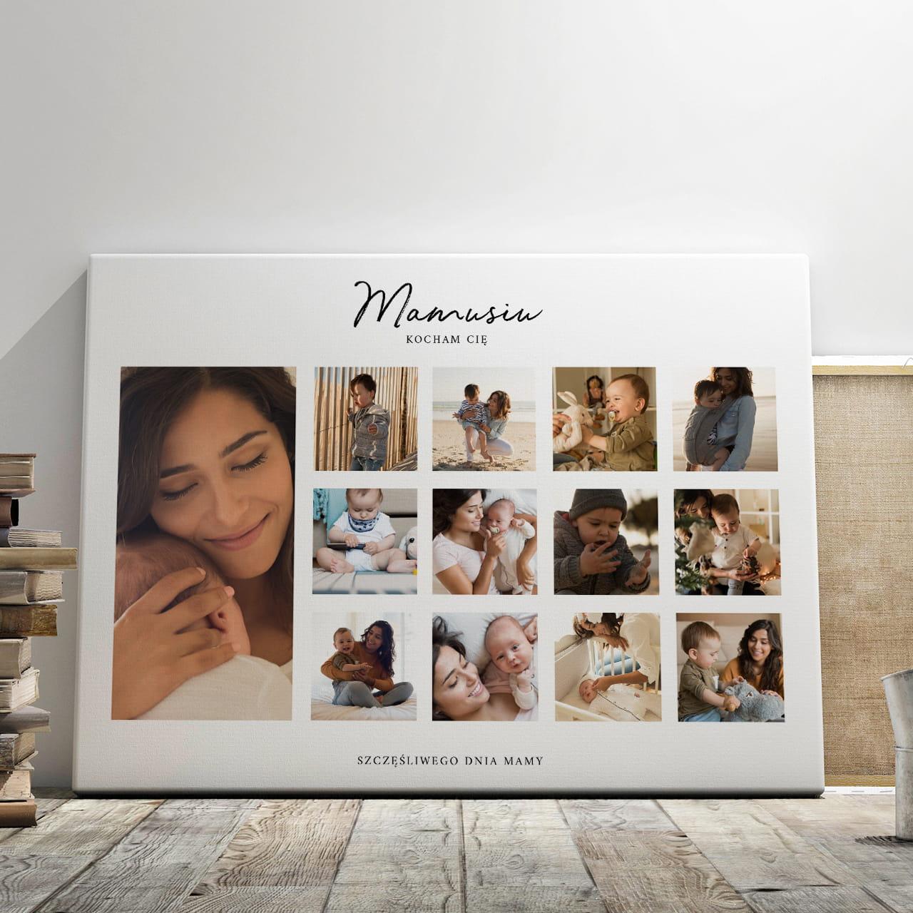 Obraz Na Plotnie Prezent Na Dzien Mamy 70 X 50 Cm