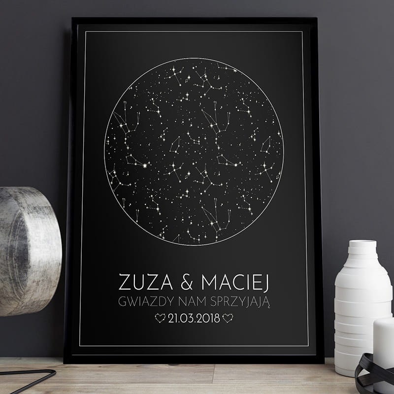 Plakat Personalizowany 31x41 Cm Gwiazdy