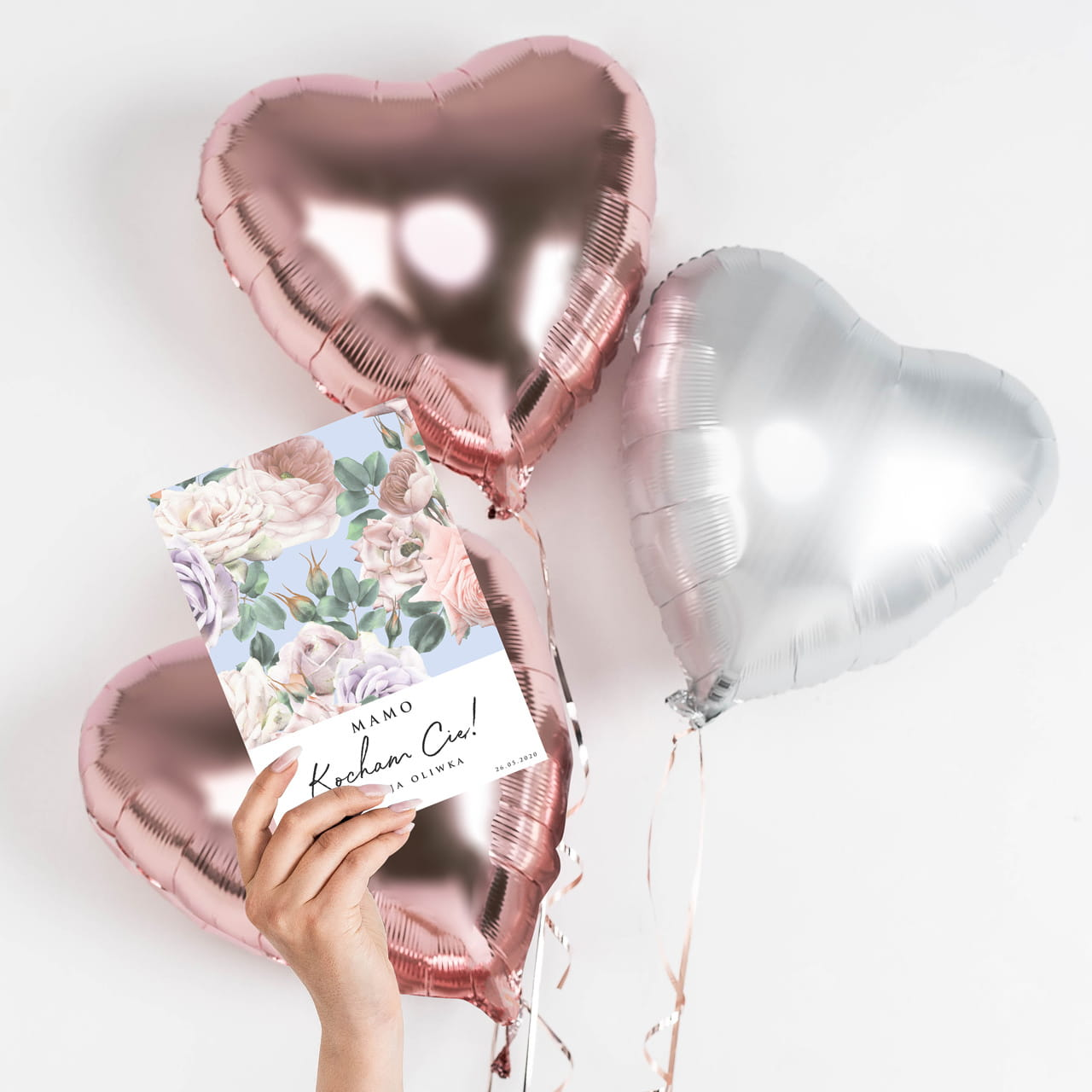 Balony W Pudelku Kartka Prezent Na Dzien Mamy