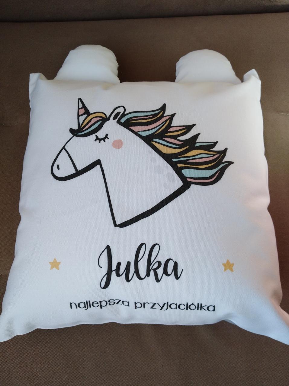 164892fba6f28e Zdjęcie osoby, która kupiła Personalizowana poduszka dla dzieci JEDNOROŻEC